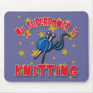 My Superpower is Knitting Mouse Pads