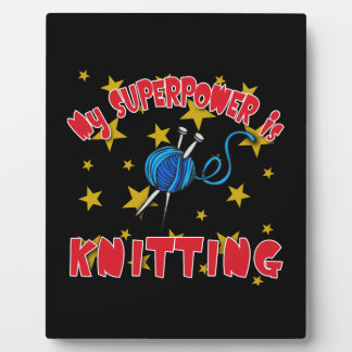 My Superpower is Knitting Photo Plaques