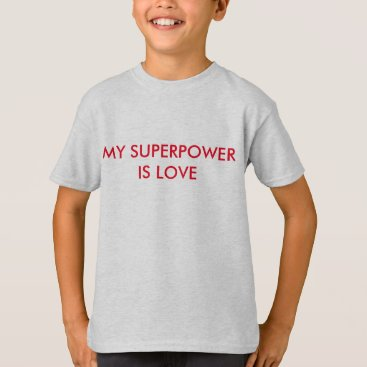 Beach Themed My Superpower is LOVE T-Shirt