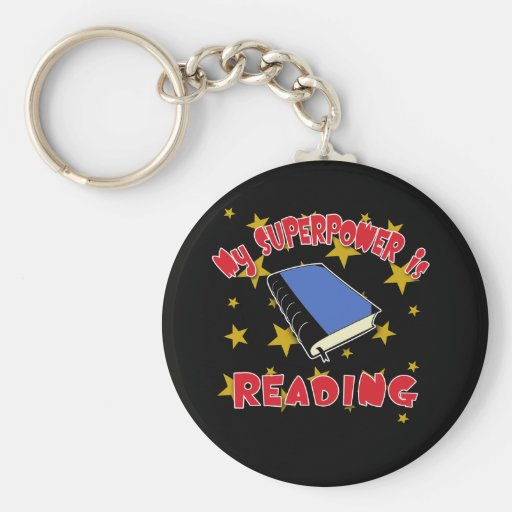 My Superpower is Reading Keychain