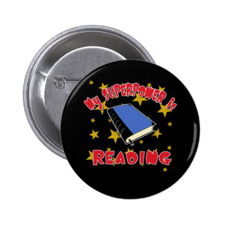 My Superpower is Reading Pinback Button