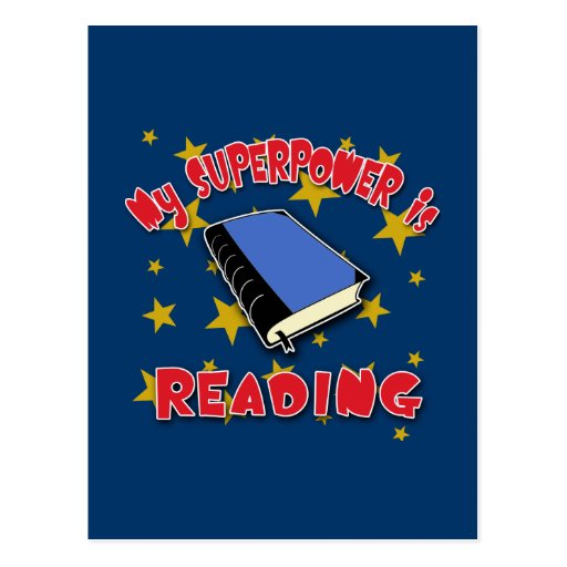 My Superpower is Reading Postcard