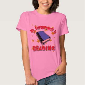 My Superpower is Reading Tee Shirt