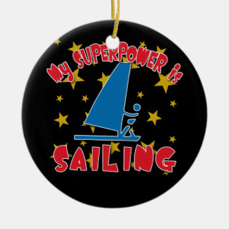 My Superpower is Sailing Ornaments