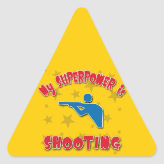 My Superpower is Shooting Triangle Sticker