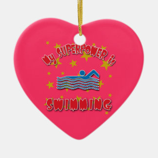 My Superpower is Swimming Christmas Tree Ornament