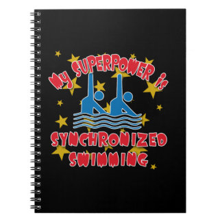 My Superpower is Synchronized Swimming Spiral Notebook