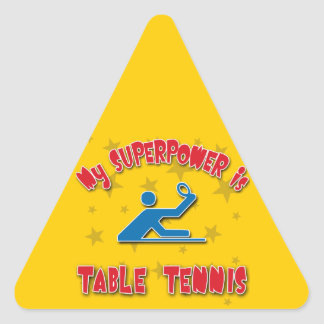 My Superpower is Table Tennis Triangle Sticker