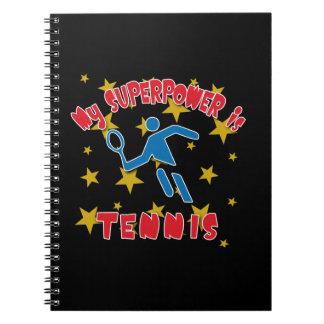 My Superpower is Tennis Spiral Note Book