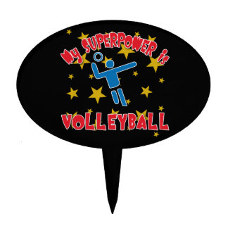 My Superpower is Volleyball Cake Topper