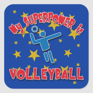My Superpower is Volleyball Square Sticker