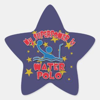 My Superpower is Water Polo Star Sticker
