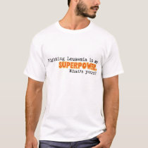 My Superpower - Men's - Leukemia Awareness T-Shirt