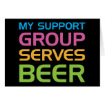 My Support Group Serves Beer Cards