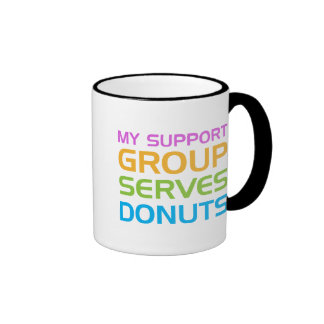 My Support Group Serves Donuts Ringer Mug