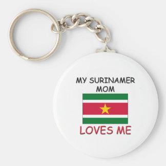 My Surinamer Mom Loves Me Keychains