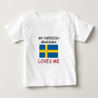 My Swedish Grandma Loves Me Baby T-Shirt