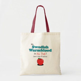 My Swedish Warmblood is All That! Funny Horse Canvas Bags