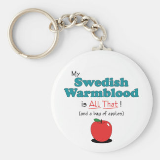 My Swedish Warmblood is All That! Funny Horse Basic Round Button Keychain