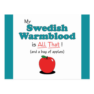 My Swedish Warmblood is All That! Funny Horse Postcards