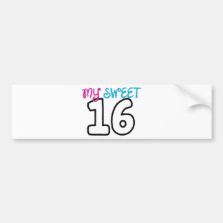 My Sweet 16-birthday Car Bumper Sticker