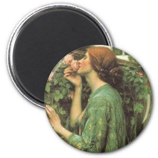 My Sweet Rose, or Soul of the Rose by Waterhouse 2 Inch Round Magnet