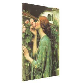 My Sweet Rose, or Soul of the Rose by Waterhouse Canvas Print