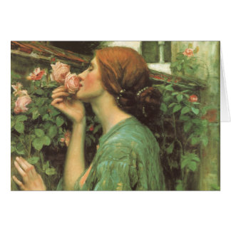 My Sweet Rose, or Soul of the Rose by Waterhouse Greeting Card