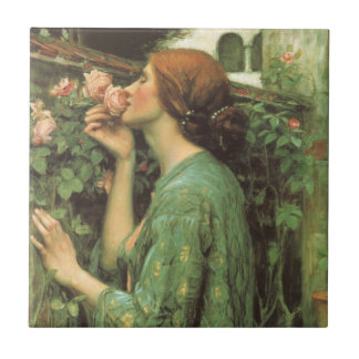My Sweet Rose, or Soul of the Rose by Waterhouse Ceramic Tile