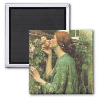 My Sweet Rose, or Soul of the Rose by Waterhouse 2 Inch Square Magnet