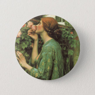 My Sweet Rose, or Soul of the Rose by Waterhouse Pinback Button