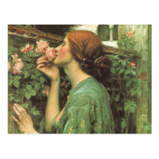 My Sweet Rose, or Soul of the Rose by Waterhouse Postcard