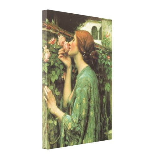 My Sweet Rose (Soul of the Rose) by Waterhouse Canvas Prints