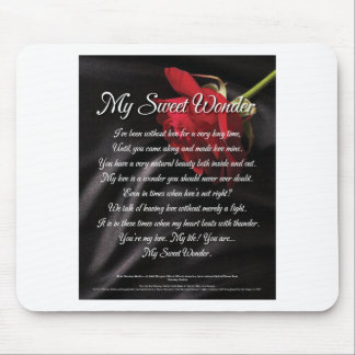 My Sweet Wonder Poetry Poster Mouse Pad