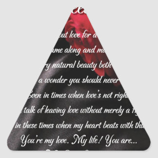 My Sweet Wonder Poetry Poster Triangle Sticker