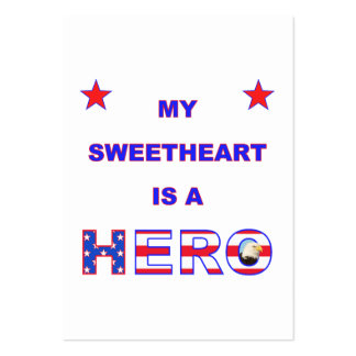 My Sweetheart Is A Hero Business Cards