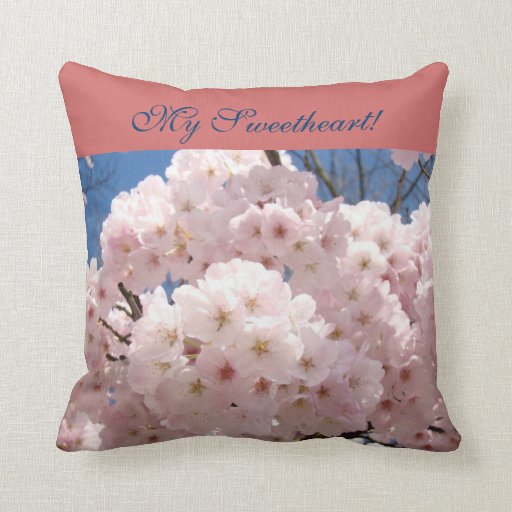 My Sweetheart! pillows Pink Fluffy Spring Blossoms