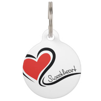 My Sweetheart Valentine Pet Name Tag