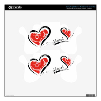 My Sweetheart Valentine PS3 Controller Decals
