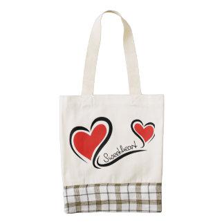 My Sweetheart Valentine Zazzle HEART Tote Bag