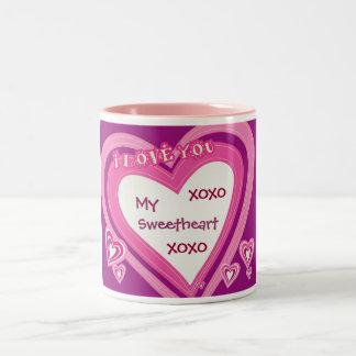 My Sweetheart, XOXO, XOXO-Mug Two-Tone Coffee Mug