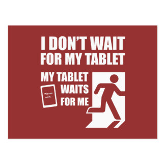 My tablet waits for me postcard