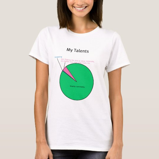 My Talents Pie Chart (Hint: I'm Mosty Snarky) T-Shirt