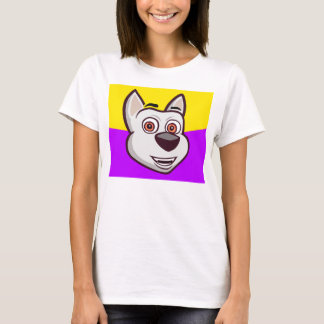My Talking Dog Charlie T-shirt for girls (purple)