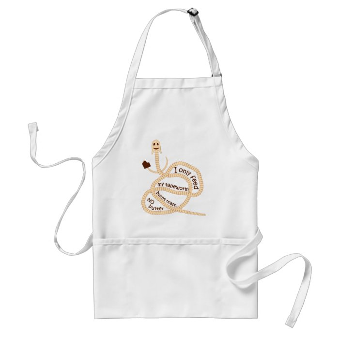 My Tapeworm Only Gets Burnt Toast Adult Apron