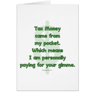My Tax Money Card