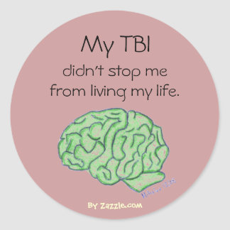 """My TBI didn't stop me"" sticker"