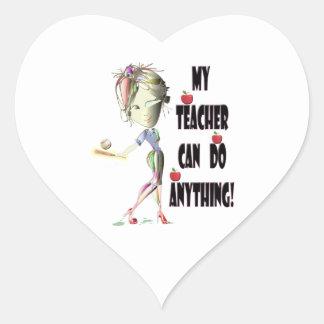 My Teacher can do Anything! Best Teacher Gifts Heart Sticker
