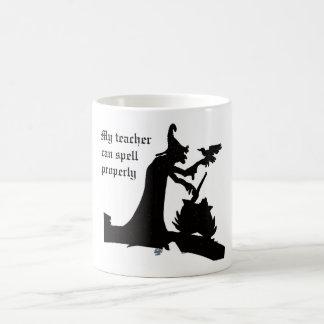 My teacher can spell properly coffee mug