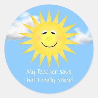 My Teacher Says I Really Shine Stickers